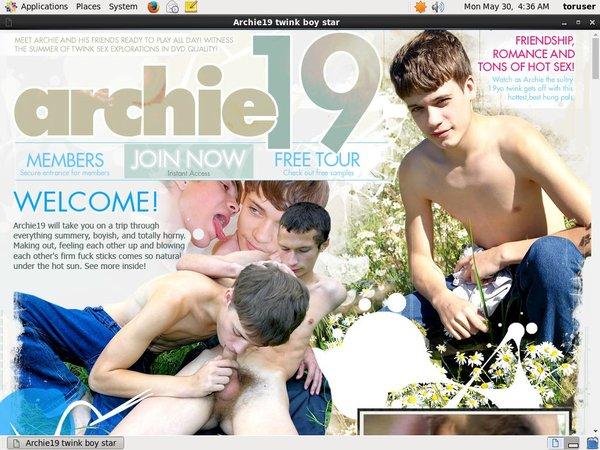 Archie 19 Sign Up Form