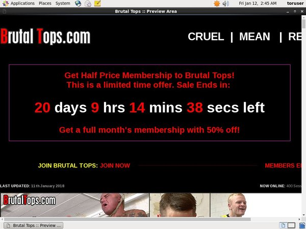 Brutal Tops Renew Subscription