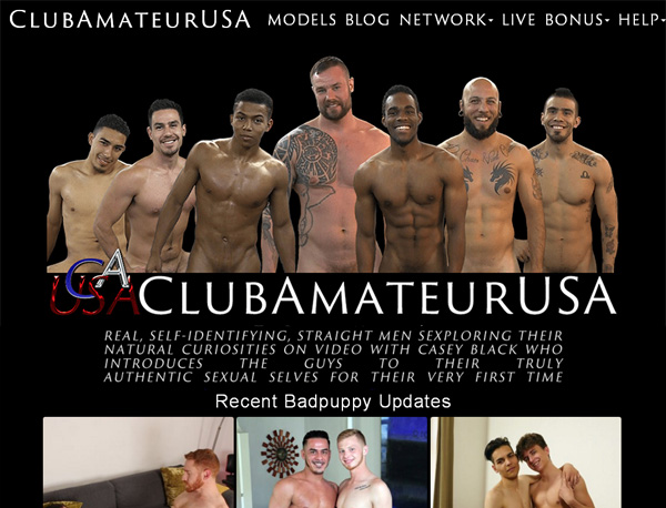Club Amateur USA Username Password