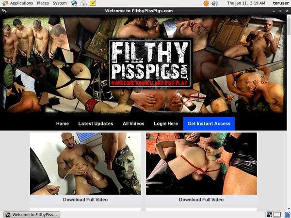 Filthy Piss Pigs Login Info