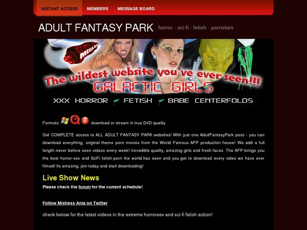 Free Working Adult Fantasy Park Accounts