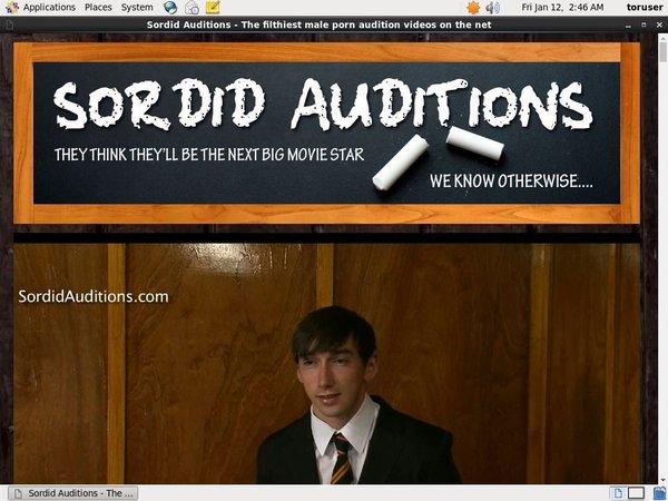 Sordid Auditions V2 Video