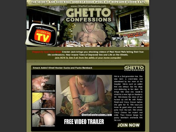 Ghettoconfessions.com Login Codes