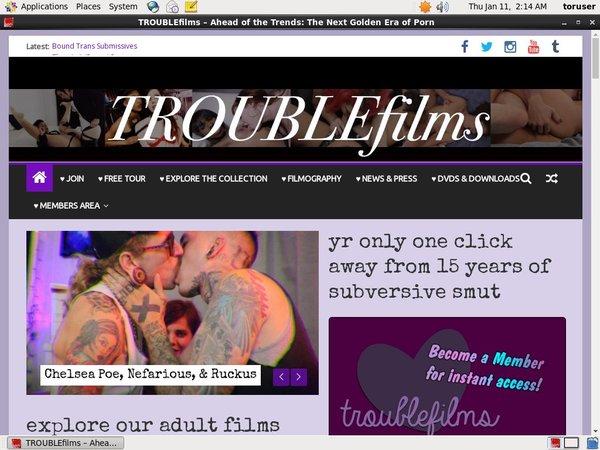 Trouble Films Network Login