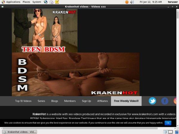Free User For Kraken Hot