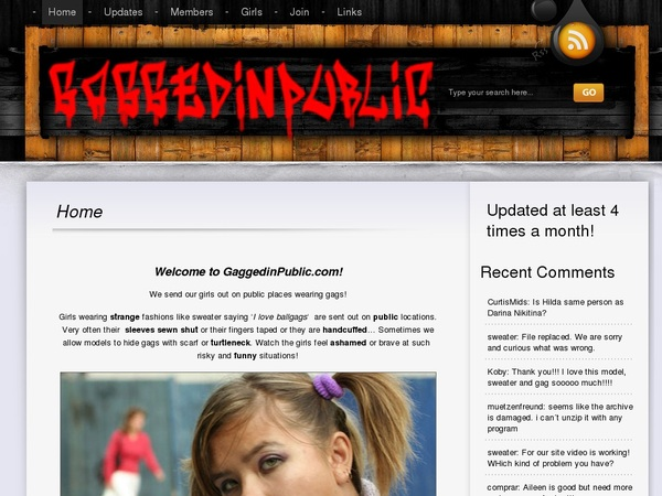 Gaggedinpublic Signup Page